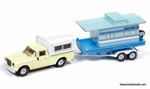 Johnny Lightning 1:64 1960 Studebaker Champ Truck W/Houseboat