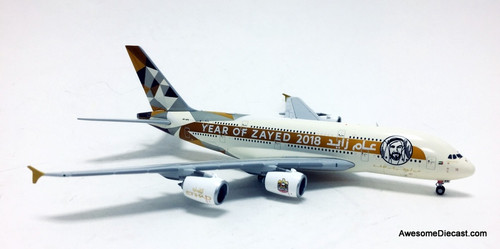 Gemini Jets 1:400 Airbus A380: Etihad Airways, 2018 Year Of Zayed Livery