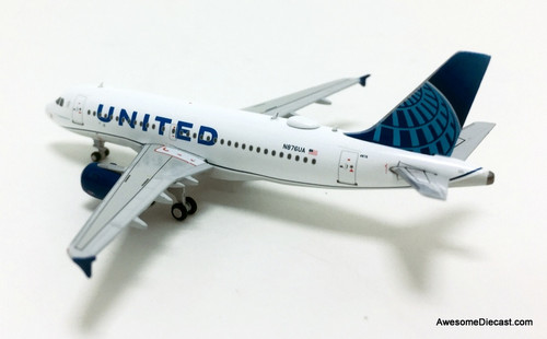 Gemini Jets 1:400 Airbus A319: United Airlines 2019 New Livery