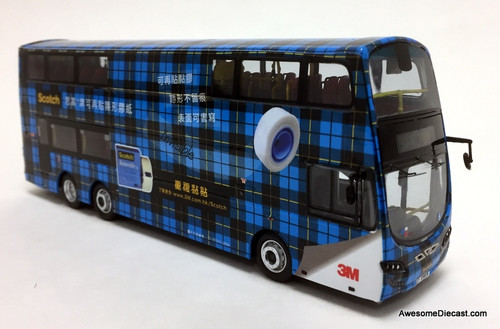 Network Shuttle 1:76 Alexander Dennis Enviro 500 MMC Double Decker: 3M Scotch Tape Livery, Blue