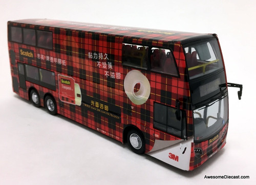 Network Shuttle 1:76 Alexander Dennis Enviro 500 MMC Double Decker: 3M Scotch Tape Livery, Red