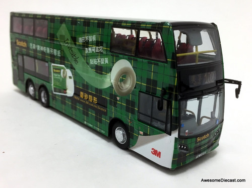 Network Shuttle 1:76 Alexander Dennis Enviro 500 MMC Double Decker: 3M Scotch Tape Livery, Green