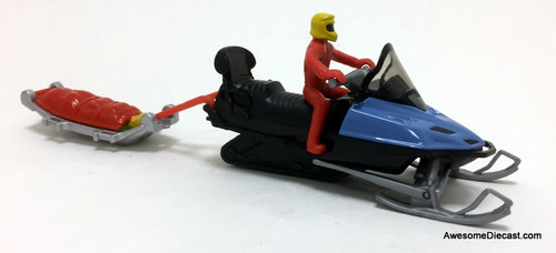 SIKU 1:43 Snow Mobile w/Rescue Toboggan: Mountain Rescue