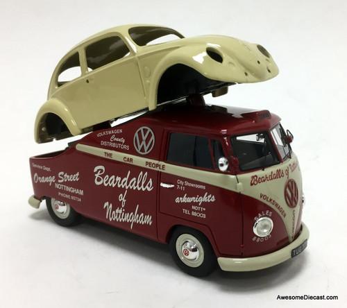 Schuco 1:43 Volkswagen T1 w/Volkswagen Beetle Shell: Beardalls Of Nottingham