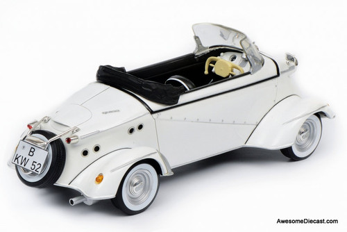 Schuco 1:18 Messerschmitt FMR TG500 Roadster Tiger, White