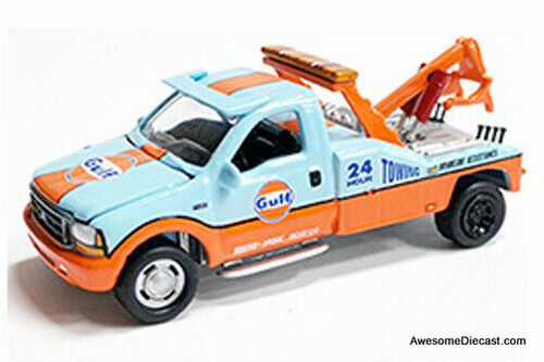 Johnny Lightning 1:64 1999 Ford F-450 Tow Truck: Gulf Oil