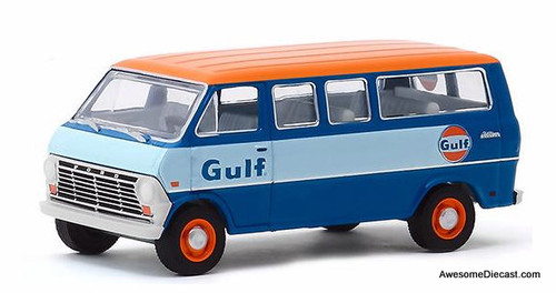 Greenlight 1:64 1968 Ford Club Wagon: Gulf Oil