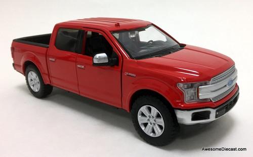 Motormax 1:27 2019 Ford F-150 Lariet Crew Cab, Red