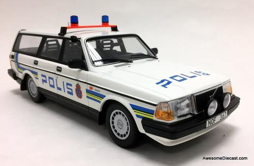 Minichamps 1:18 1986 Volvo 240 GL Wagon: Swedish Police
