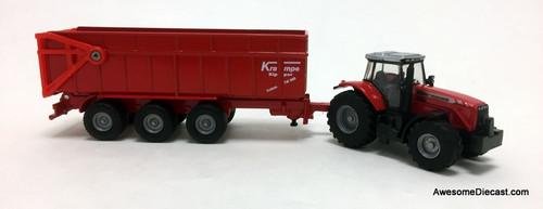 SIKU 1:87 Massey Ferguson Tractor w/Dump Trailer