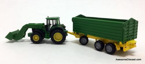SIKU 1:87 Front Loader Tractor w/Trailer: John Deere