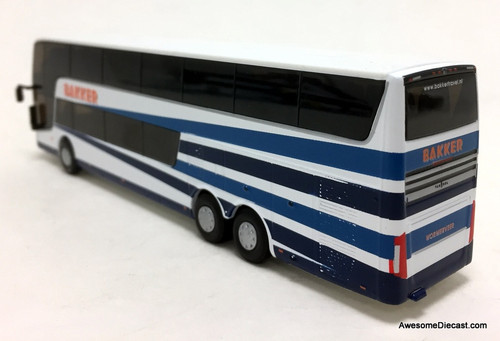 HollandOto 1:87 Van Hool AstroMega TX Double Decker Coach: Bakker Travel