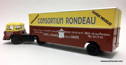 Corgi 1:50 Saviem JL Tractor w/Fruehauf Moving Trailer: Consortium Rondeau Movers