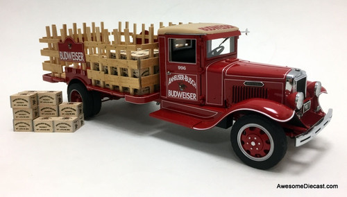 Danbury Mint 1:24 1933 International A-5 Stake Delivery Truck: Budweiser Beer