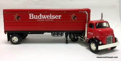 RARE!! Ertl 1:25 1954 GMC Series 950 Tractor w/Trailer Coin Bank: Budweiser Beer