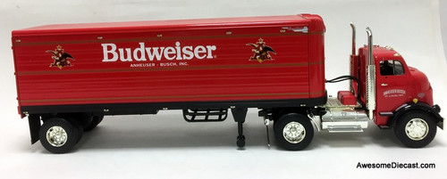 RARE!! Ertl 1:25 1954 GMC Series 950 Tractor w/Trailer Coin Bank: Budweiser Beer