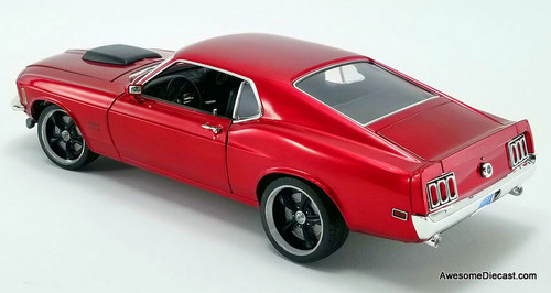 Acme 1:18 1970 Ford Boss 429 Mustang Street Fighter | Candy Apple Red