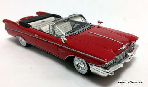 GLM 1:43 1960 Imperial Crown Convertible, Red (Roof Open)