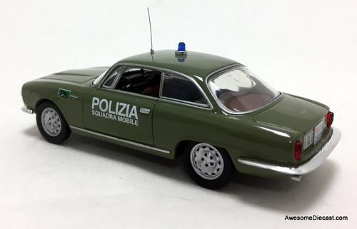M4 Models 1:43 1962 Alfa Romeo 2600 Sprint: Polizia Municipale Roma