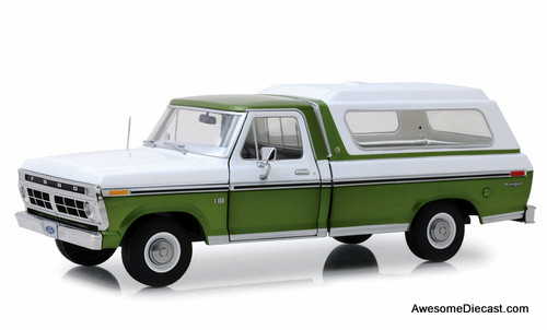 Greenlight 1:18 1976 Ford F-100 Pick Up, Medium Green Glow/ Wimbledon White