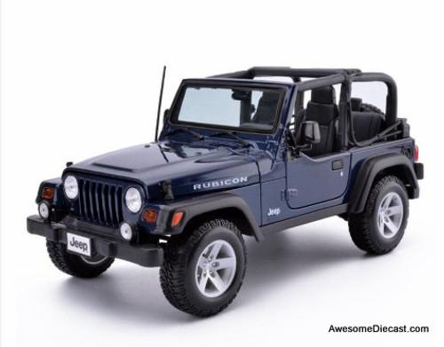 Maisto Special Edition 1:18 Jeep Wrangler Rubicon Convertible, Metallic Blue