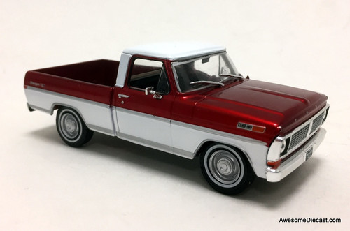 Greenlight 1:43 1970 Ford F-100 Ranger Pick Up , Metallic Red/White