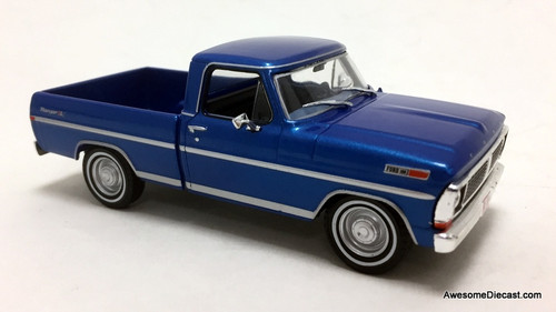 Greenlight 1:43 1970 Ford F-100 Ranger Pick Up, Metallic Blue