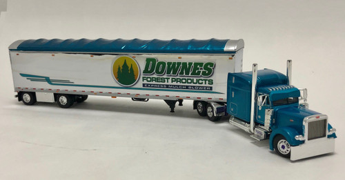 DCP 1:64 Peterbilt® 379 & 53' Walking Floor Trailer: Pyskaty Bros. / Downes Forest Products