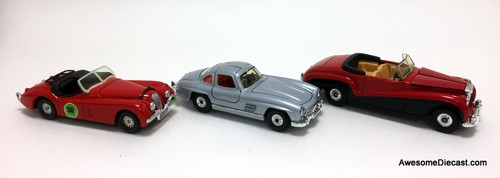 Corgi Cars of the 1950's - 3 Car Gift Set Assorted Scales