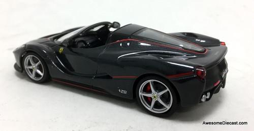 IXO 1:43 2016 Ferrari LaFerrari Aperta Convertible, Metallic Gray