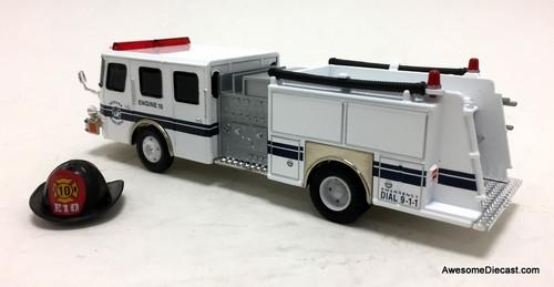 RARE!! Corgi 1:50 E-One Side Mount: Newark Fire Department
