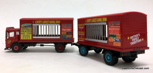 Corgi 1:50 AEC Ergomatic Cage Truck w/Trailer: Chipperfields Circus