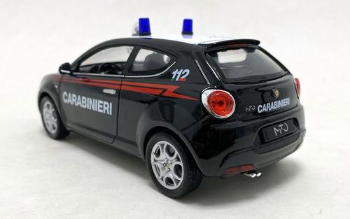 Welly 1:24 2008 Alfa Mito: Rome, Italy Police Car