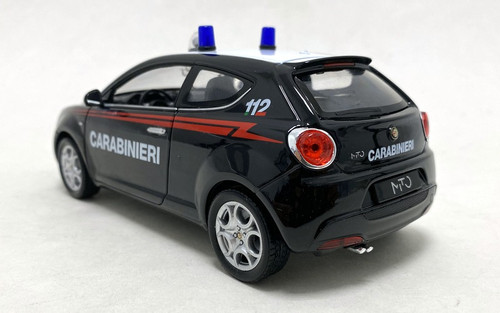 Welly 1:24 2008 Alfa Mito: Rome, Italy Police Car