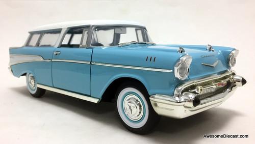 Yat Ming 1:18 1957 Chevrolet Nomad, Blue/White