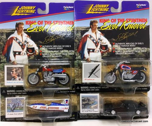 Johnny Lightning 1:64 Set Of 4 Stunt Vehicles: Evil Knievel