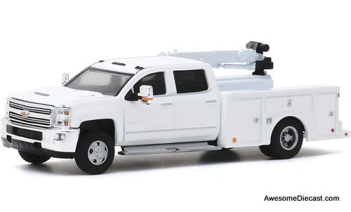 Greenlight 1:64 2016 Chevrolet Silverado 3500HD Crane Truck
