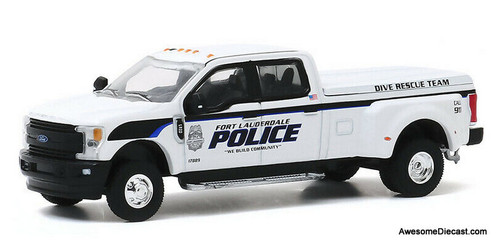 Greenlight 1:64 2019 Ford F-350 Lariat: Fort Lauderdale Police Department Dive Team