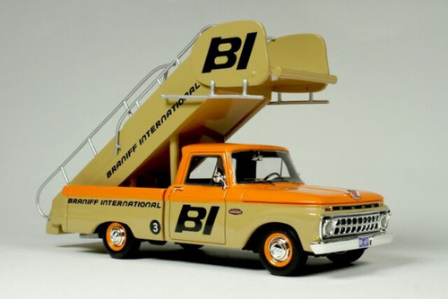 """Goldvarg Collection 1:43 1965 Ford Stairs Truck """"BRANIFF INTERNATIONAL"""""""