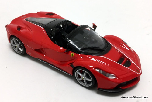 Burago 1:43 2017 Ferrari LaFerrari Convertible, Red