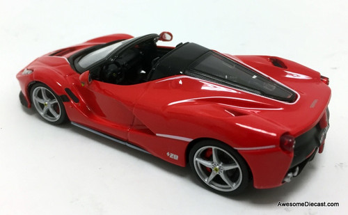 Burago 1:43 2017 Ferrari LaFerrari Convertible, Red