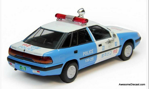 RARE!! DeAgostini 1:43 1995 Daewoo Espero Patrol Unit: Seoul, South Korea Police Department