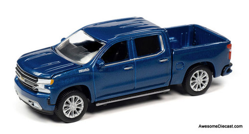 Autoworld 1:64 2019 Chevrolet Silverado High Country, Northsky Blue