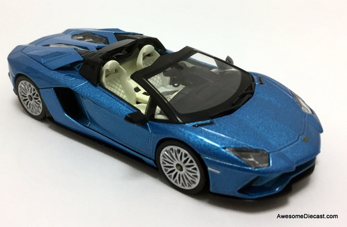 IXO 1:43 2017 Lamborghini Aventador S Roadster, Metallic Blue