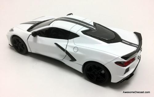 Motor Max 1:24 2020 Chevrolet Corvette, White