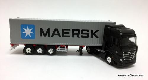 MiniGT 1:64 Mercedes-Benz Actros w/ 40' Container: MAERSK