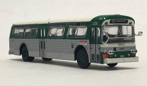 Iconic Replicas 1:87 Flxible 53102 Transit Bus: CTA Chicago