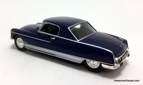 Atlas 1:43 1967 Citroen DS 21, Metallic Blue: Le Dandy, Henri Chapron