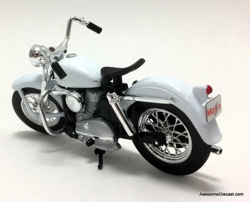 Maisto 1:18 1952 Harley Davidson K Model, White