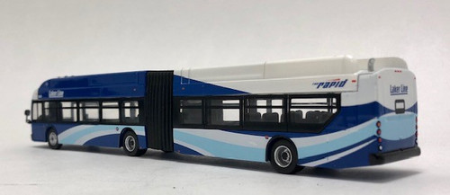 Iconic Replicas 1:87 NFI xcelsior XN60 Articulated Transit Bus: Grand Rapids / Laker Line